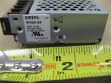 Cosel R10A-24 24VDC .5AMPS Output 100-120VAC Input Power Supply Japan
