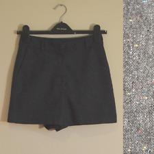 Topshop women's multicolour fleck shorts - UK 8 - grey formal work boho tweed