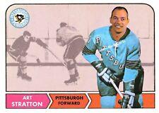 Custom made Topps 1968-69 Pittsburgh Penguins Art Stratton  Hockey  card
