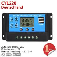 30A PWM Solar Laderegler Solarregler 12V/24V mit Dual USB und LCD Bildschirm KS