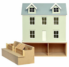 Willow Cottage Dolls House & Basement  1:24  Scale -  Unpainted Collectable Kits