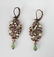 Crystals of Clear & White, Earrings from Joan Rivers Collection, Leverback