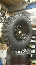 """16"""" BLACK JEEP GRAND CHEROKEE WHEELS AND TYRES 265/75X16 MUD TYRES JEEP WJ 5X127"""