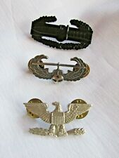 Military Pin Lot: Helicopter Pilot, Eagle and Combat Action Knife
