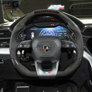 JiangGai LED Carbon Fiber Steering Wheel Fit For 2018+ Lamborghini Urus
