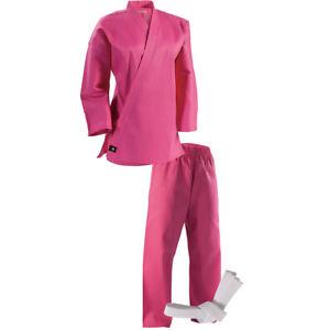 Century Kid's 6 oz. Lightweight Student Uniform with Elastic Pants - Pink