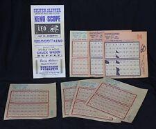 7 Vtg Silver Slipper Casino Gambling Hall Saloon Keno Slips & Brochure Nevada