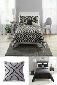 Bree Trellis 8 Piece Comforter Set with Bonus Quilt Set, Different Colors
