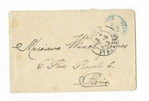 Unfranked 1910 Port-au-Prince, Haiti to Paris, France, Postal Cover