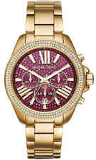 Michael Kors MK6290 Women's Fuchsia Crystal Pave Wren Gold-Tone Watch