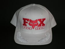 NEW Fox Racing Hat Retro OSFA White Red Snapback Flatbill ($27) Motocross Dirt