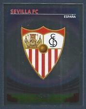PANINI UEFA CHAMPIONS LEAGUE 2007-08- #502-SEVILLA TEAM BADGE-SILVER FOIL