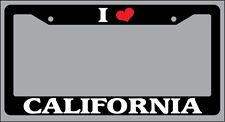 Black License Plate Frame I Heart California Auto Accessory 1152