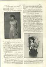 1894 Chat Miss Lillian Revell Gay Widow At The Court Theatre Miss Ellerslie