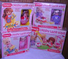 #5393 RARE Vintage Playskool Candy Land Kids 3 Dolls & Playground Set