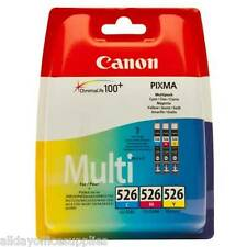 Genuine Canon CLI 526-CMY Ink Cartridge - Cyan Magenta Yellow Inkjet - Multipack