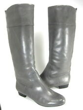 HOUSE OF HARLOW 1960 WOMEN'S COMFORT JEAN BOOT GREY LEATHER US SZ 8, EUR 38