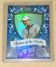 2012 Leaf Metal Golf Lorena Ochoa BLUE autograph prismatic LADIES LINKS 9/10