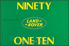 Land Rover 90 110 Owner Manual Defender 1983 1984 1985 1986 1987 1988 1989 1990