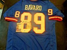 Mark Bavaro New York Giants Signed Blue Jersey Dual Cert.-JSA + Gridiron Legends