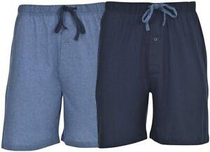 Hanes Men's 2-Pack Knit Short, Champbre Blue Heather/Blue Depth, XX-Large