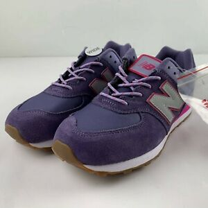 New Balance Summer Camp 574 Girls 4.5 Purple Violet Pink GC574PAE Running Patch