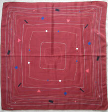 -Authentique Foulard TORRENTE Paris 100% soie  TBEG  vintage Scarf 84 x 87 cm