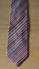 PAUL SMITH Signature Stripe Men's Silk Tie multistripe striped MADE IN ENGLAND