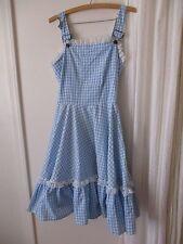 Dorthy Costume Wizard of Oz L Women's Overalls dress Handmade Cosplay Theater