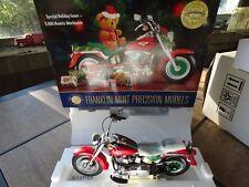 Franklin Mint 2000 Harley Davidson Fat Boy Christmas 1:10 Diecast Motorcycle