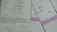 PLAN PARCELLAIRE VILLEAU Pierre au Gré 1863 CHEMIN DE FER PARIS TOURS VENDOME
