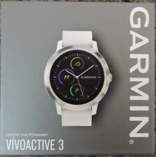 Garmin VIVOACTIVE 3 GPS Smartwatch White Band / Stainless Steel Bezel