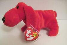 TY BEANIE BABY ROVER THE RED DOG -  10 TUSH & SWING TAG ERRORS - PVC PELLETS -