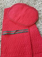 Gorgeous Vintage Red Quilted Classic Christmas Placemat Set of 4 & Table runner