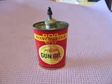 Winchester New Gun Oil Tin Lead Top Handy Oiler Oil 3oz Can  advertising vintage