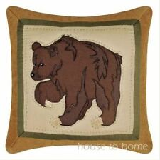 BROWN BEAR PAW ACCENT PILLOW : BIG SKY LODGE CABIN RUSTIC TOSS