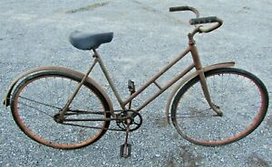"Vintage 1944 Columbia Sports Tourist 26"" Bike Rare Blacked-Out Wartime Parts"