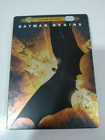 Batman Begins Christian Bale - 2 x DVD Limited Edition Steelbook Español Ingles