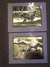 Whitetails in the Snow & Field Champion by Taylor Oughton, Gold Foil-Etch