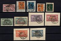 P133172/ FRENCH MEMEL – 1920 / 1923 – SCARCE USED SPECIALIZED LOT