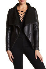 NEW! Muubaa Sabina Drape Genuine Leather Jacket (US/12) $600+