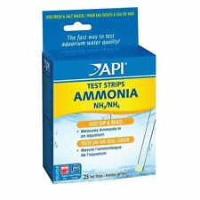 Strisce per test ammoniaca API & D'ACQUA DOLCE ACQUARIO MARINO Tank nh3 nh4 25 Strisce