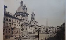 PHOTO ROME ALINARI PLACE NAVONE EGLISE DE SAINT AGNES 19EME ALBUMINE 7901 A655