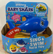 Pinkfong 2019 Baby Shark Sing and Swim Bath Toy Water Activated -Blue