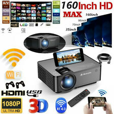 Led Smart Home Theater Projector Full Hd 1080p Wifi Video Movie for iOs &Android
