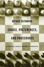 CHOICE, PREFERENCES, AND PROCEDURES - SUZUMURA, KOTARO - NEW HARDCOVER BOOK