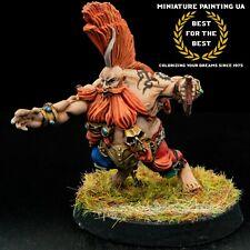⭐️Blood Bowl Forge World Dwarf Giants Star Player Grim Ironjaw Hero Pro Painted