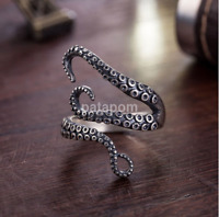 Hot Vintage Steampunk Stainless Steel Octopus Finger Open Ring Retro AU