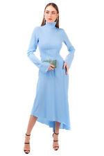 RRP €1195 ELLERY Asymmetric Hem Dress Size 12 / L Long Sleeve High Neck