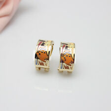 Newest  Egyptian Figures Design Rose Gold Plated Enamel Jewelry Earring Pendant